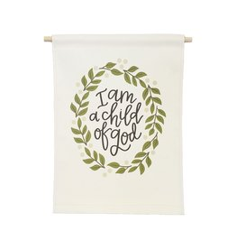 Petal Lane Banner Love I Am A Child Of God 9x12.5 Banner