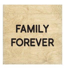 Petal Lane Family Forever Slat Board Driftwood Black Letter 8x8