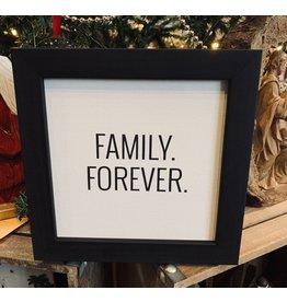 Family Forever Framed Canvas Black Ebony