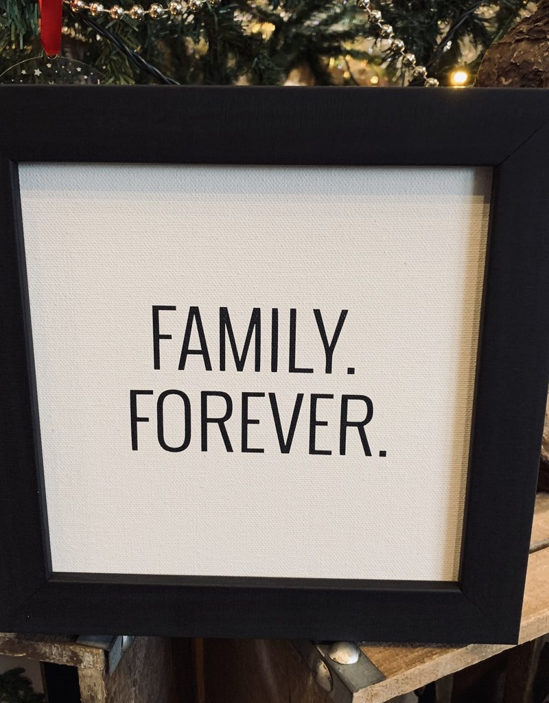 Petal Lane Family Forever Framed Canvas Black Ebony