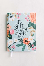 New Tradition Crafts Inspirational Journal - Be Still Floral