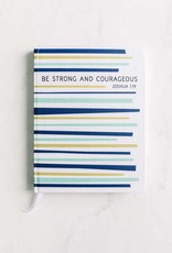 New Tradition Crafts Inspirational Journal - Strong & Courageous Stripes