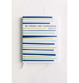 Inspirational Journal - Strong & Courageous Stripes
