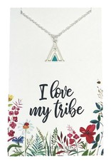 I Love My Tribe Necklace. Silver