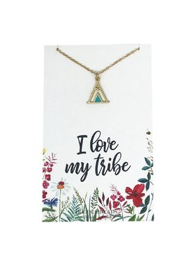 I Love My Tribe Necklace in Gold