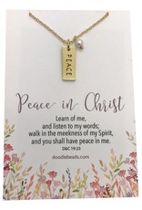 Peace in Christ Charm Necklace, Gold