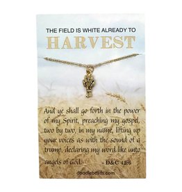 The Field is White Missionary Necklace Gold