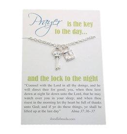 Lock and Key Prayer Necklace