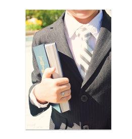 Book of Mormon Boy Baptism Card