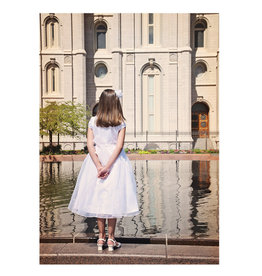 Reflection Girl Baptism Card