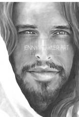 JennyFowlerArt Christ Portrait print by Jenny Fowler