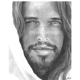 Jenny Fowler - Artist Christ Portrait print by Jenny Fowler
