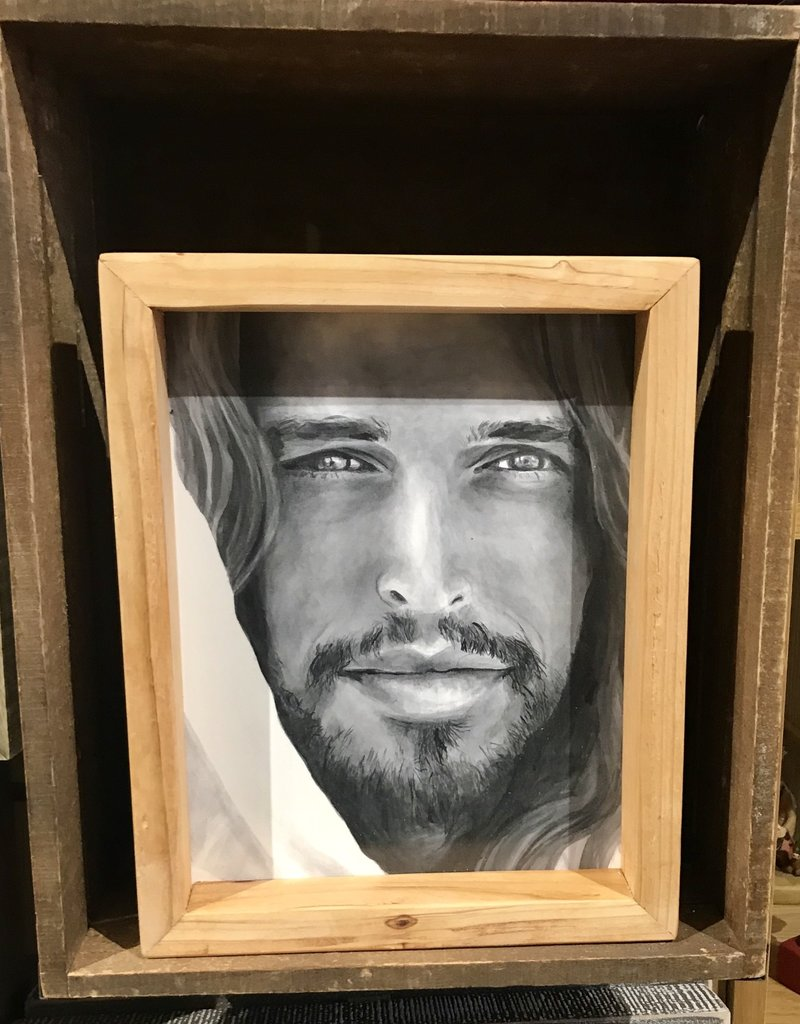 JennyFowlerArt 8x10 FRAMED - Christ Portrait By Jenny Fowler