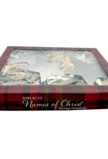 Zions Mercantile Names of Christ Star Ornament Set 12-Piece Set by Zions Mercantile Gifts