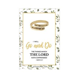 Go and Do Adjustable Wrap Ring, 2020 Mutual Theme Gold Finish