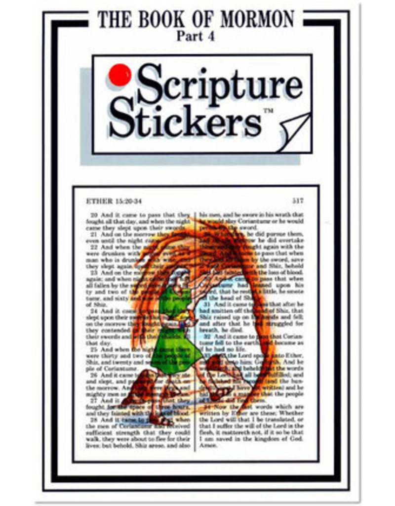 Scripture Stickers Book of Mormon Part four