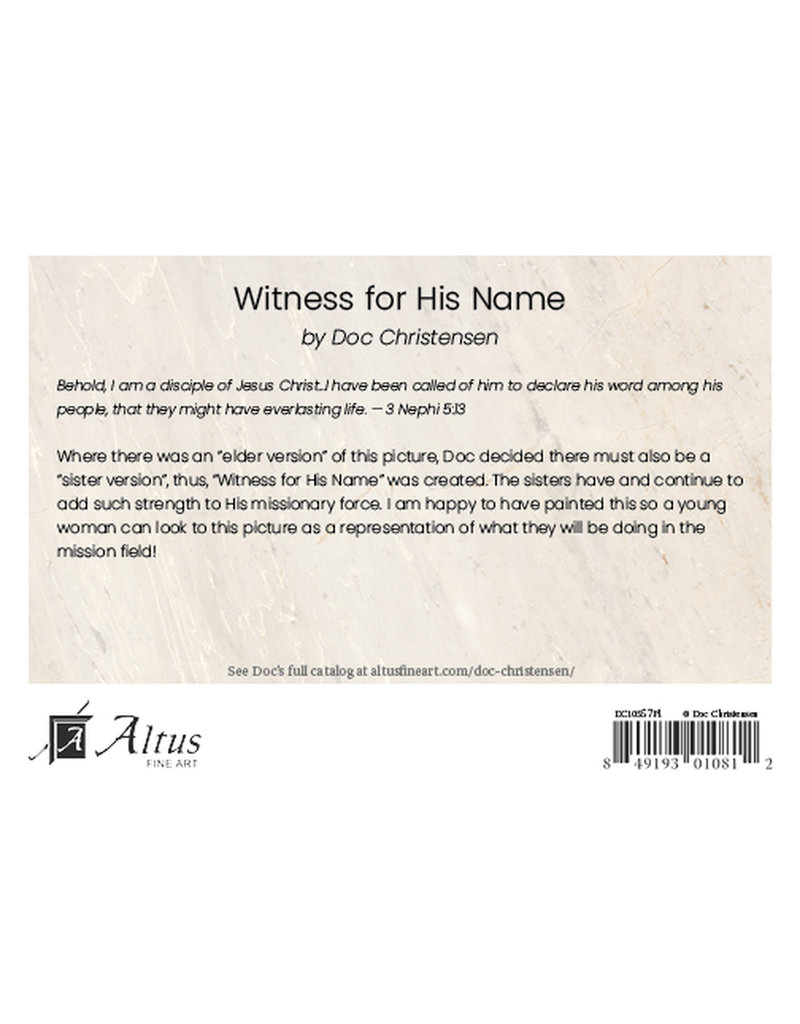 """Witness for His Name. 5""""x 7"""" Print"""