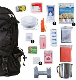 wise food Wise Five Day Emergency Survival First Aid Kit with Food & Water for One Person (72 Hour kit for two people) BLACK