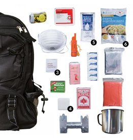 BLACK Wise Five Day Emergency Survival First Aid Kit with Food & Water for One Person (72 Hour kit for two people)