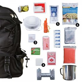 Ready Wise / Wise Food BLACK Wise Five Day Emergency Survival First Aid Kit with Food & Water for One Person (72 Hour kit for two people)