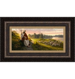 Dear to the heart of the Shepard. Simon dewey 27x16 Framed
