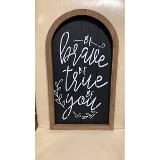 Seagull Books Be Brave, Be True, Be You Wall Art Black