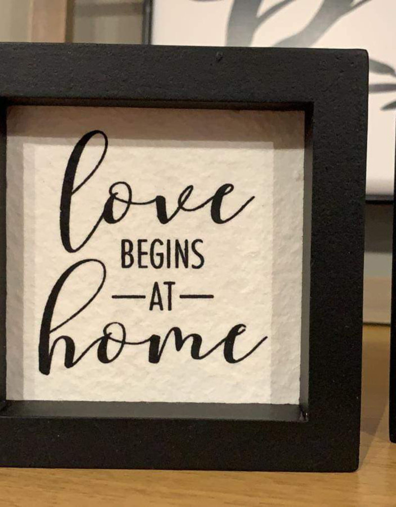 Love Begins At Home Accent Black