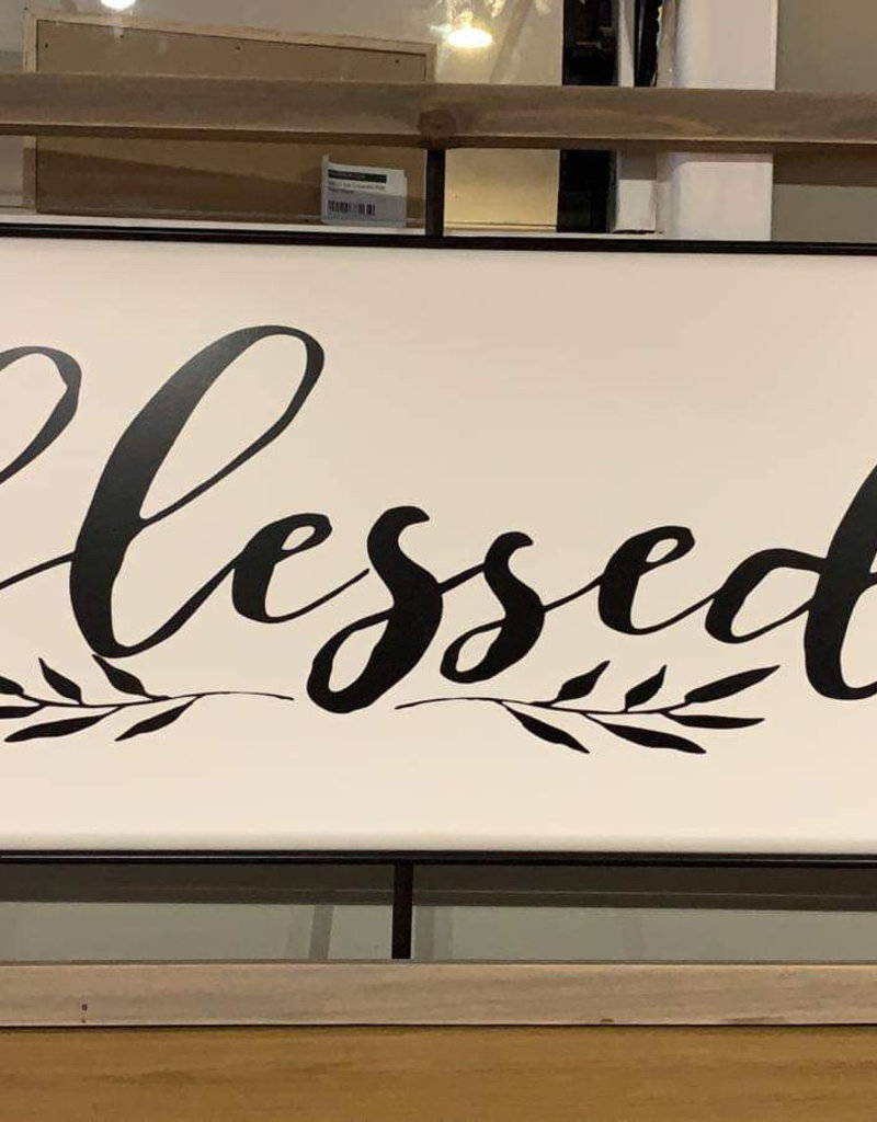 Blessed Wall Art White