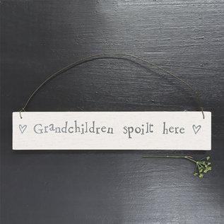 EastOfIndia 873 W/wash sign-Grandchildren Spoilt