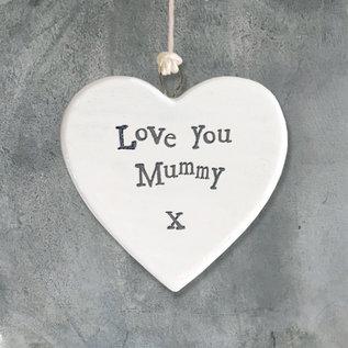 EastOfIndia 4172 Porcelain heart-Love mummy