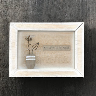 EastOfIndia 5108 Box frame-Love grows in our family