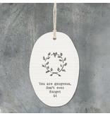 6304 Porcelain hanger leaf wreath-Gorgeous