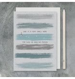 2439B Colour wash card-Dad is a small word