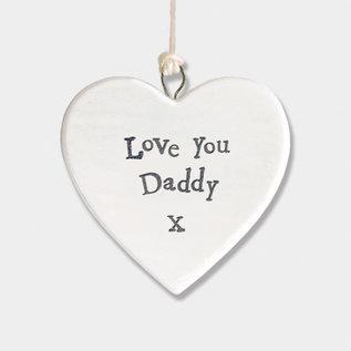 EastOfIndia 4173 Porcelain heart-Love daddy