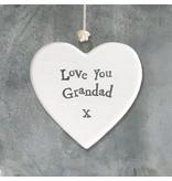 4176 Porcelain heart-Love grandad