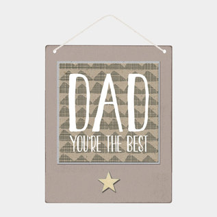 EastOfIndia 4605 –Sml wood sign-Dad you're the best