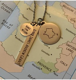 CUSTOM Personalised Mission Necklace