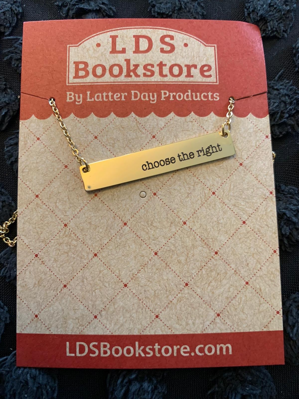 Choose The Right Bar Necklace Gold