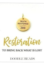 Truth Restored Charm, 200 Years Commemoration Church of Jesus Christ of Latter-Day Saints GOLD finish