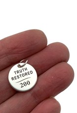 Truth Restored Charm, 200 Years Commemoration Church of Jesus Christ of Latter-Day Saints SILVER finish