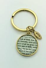 Vintage Ask of God keyring Gold