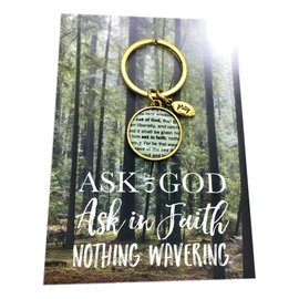 Vintage Ask of God keyring Gold