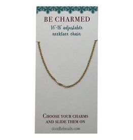 Be Charmed Necklace Chain, 16″ – 18″ Adjustable, Gold
