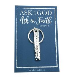 Ask in faith bar key ring