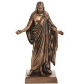 """10"""" Bronze-Finish Christus Statue"""