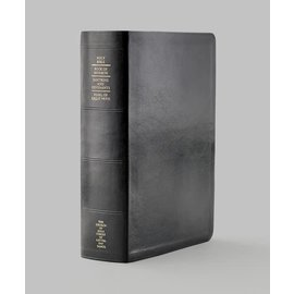 Church Distribution Thumb-indexed Simulated Leather Quad Combination (Black with index tabs)