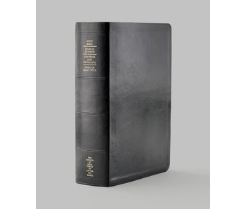 Thumb-indexed Simulated Leather Quad Combination (Black with index tabs)