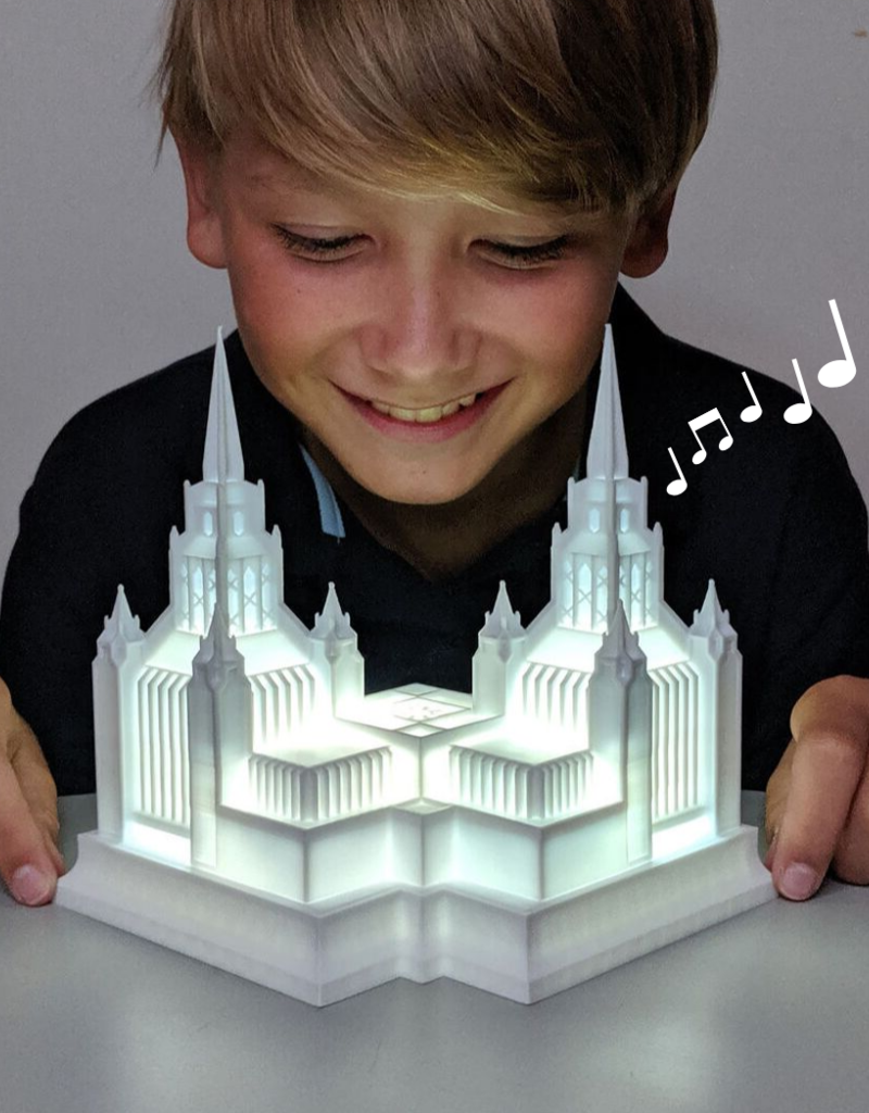 Tiny 3D Temples Temple music light - Preston Temple - I love to see the Temple