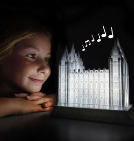 Tiny 3D Temples Temple music light - Preston Temple - Families can be together forever