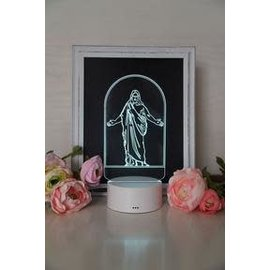 Tiny 3D Temples Christus LED Night Light
